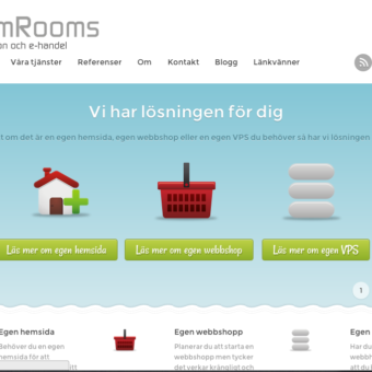 DreamRooms startsida