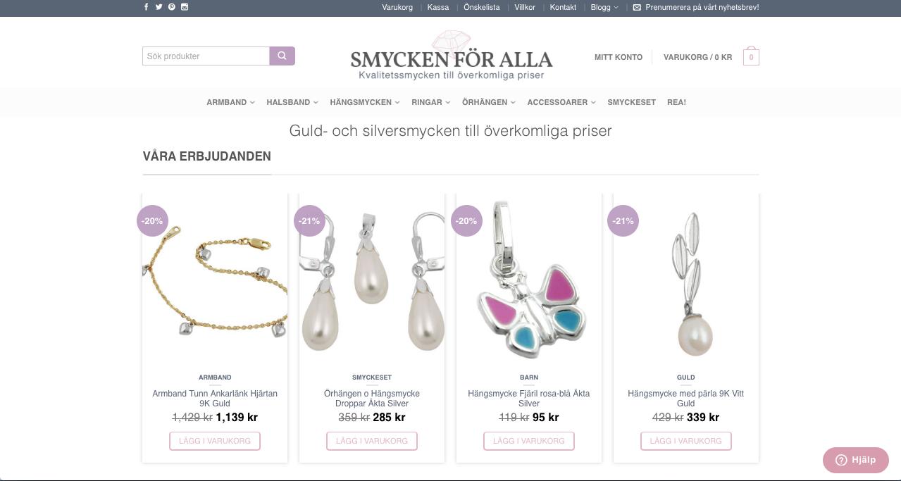 Smycken För Alla ny design